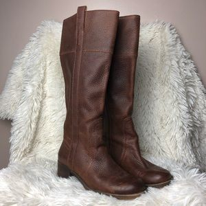 Lucky Brand Tall Brown Leather Boots Size 6